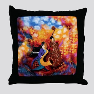 Music Makers Jazz Music Throw Pillow