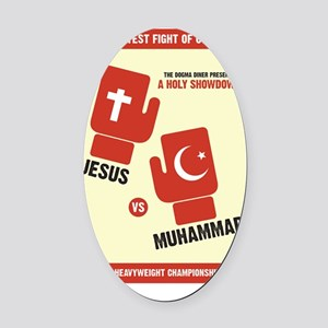 religious battle Oval Car Magnet