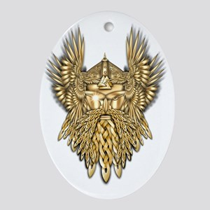 Odin - God of War Oval Ornament