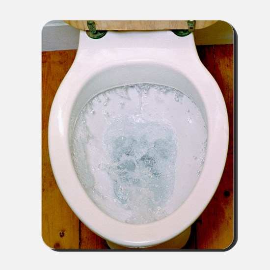 Toilet being flushed Mousepad