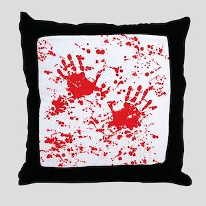 blood stain Throw Pillow
