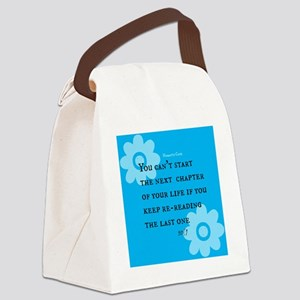 Lifes Next Chapter Canvas Lunch Bag