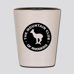 Rhodesian Mountain Club white on black Shot Glass