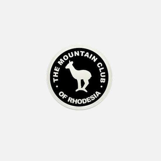 Rhodesian Mountain Club white on black Mini Button