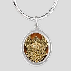 Odin - God of War Silver Oval Necklace