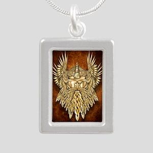 Odin - God of War Silver Portrait Necklace