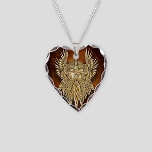 Odin - God of War Necklace Heart Charm