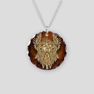 Odin - God of War Necklace Circle Charm
