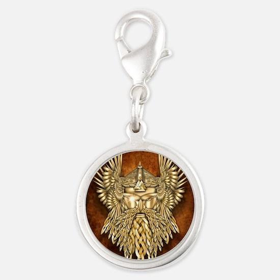 Odin - God of War Silver Round Charm