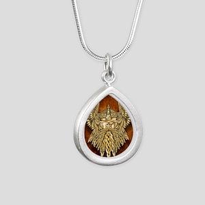 Odin - God of War Silver Teardrop Necklace