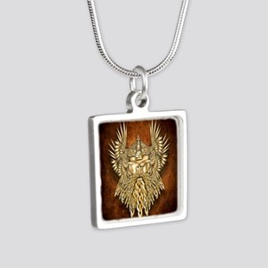 Odin - God of War Silver Square Necklace