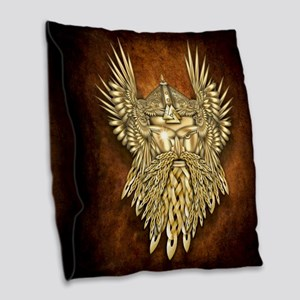 Odin - God of War Burlap Throw Pillow