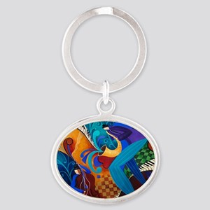 The Music Players Oval Keychain