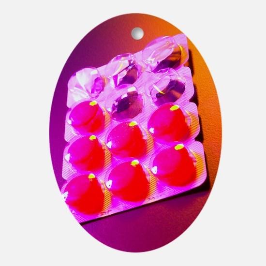 Throat lozenges Oval Ornament