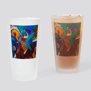 The Music Players Drinking Glass