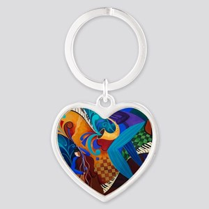 The Music Players Heart Keychain