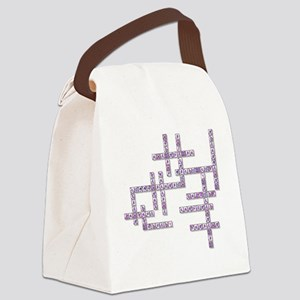 WBC Crossword Puzzle Canvas Lunch Bag
