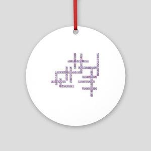 WBC Crossword Puzzle Round Ornament