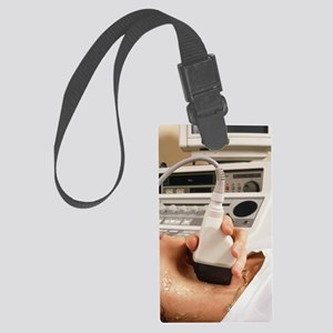 Ultrasound scanning of neck bloo Large Luggage Tag