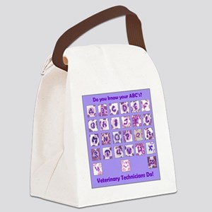 Do you know your ABC's? Canvas Lunch Bag