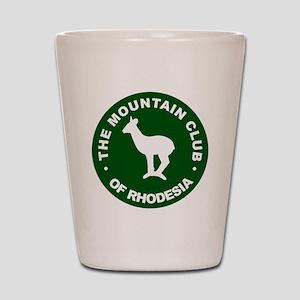 Rhodesian Mountain Club green Shot Glass