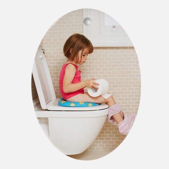 Toilet training Oval Ornament