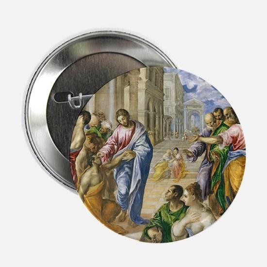"""Christ Healing 2.25"""" Button"""