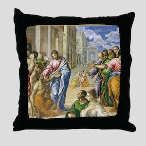 Christ Healing Throw Pillow