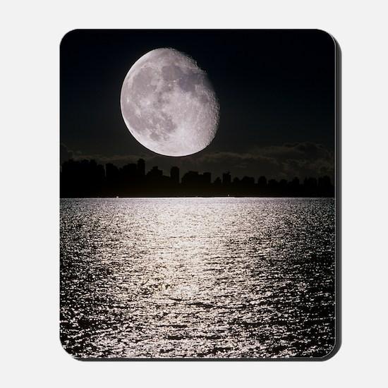 Waning gibbous moon Mousepad
