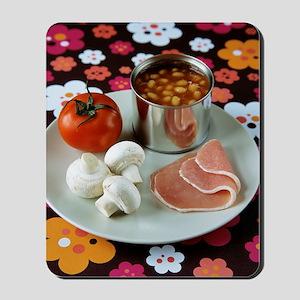 Uncooked English breakfast Mousepad