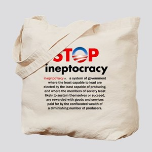 Stop Obama's Ineptocracy Tote Bag