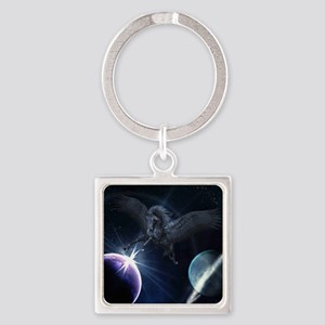 bp_kids_all_over_828_H_F Square Keychain