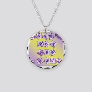 What's The Big Diff Necklace Circle Charm