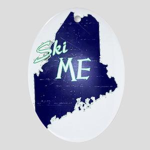 Ski ME Vintage Logo Oval Ornament