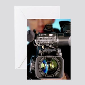 TV camera and cameraman Greeting Card
