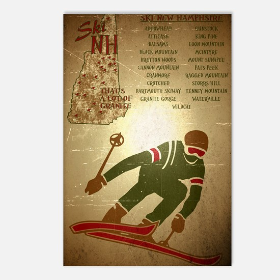 Vintage Ski NH Poster Postcards (Package of 8)