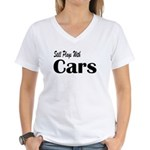 Plays With Cars Women's V-Neck T-Shirt