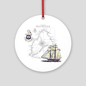 Mauritius Boat Ornament (Round)