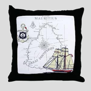 Mauritius Boat Throw Pillow
