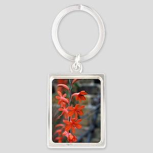 Watsonia 'Stanford Scarlet' flow Portrait Keychain