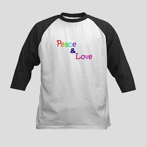 Peace and Love Kids Baseball Jersey