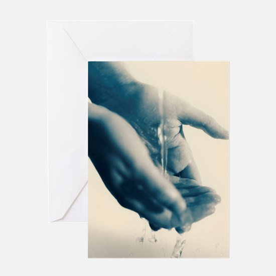 Washing hands Greeting Card