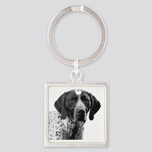 German Shorthaired Pointer Square Keychain