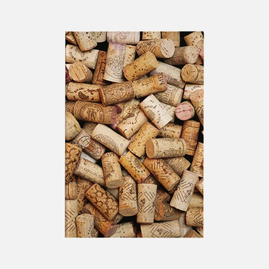Wine bottle corks Rectangle Magnet