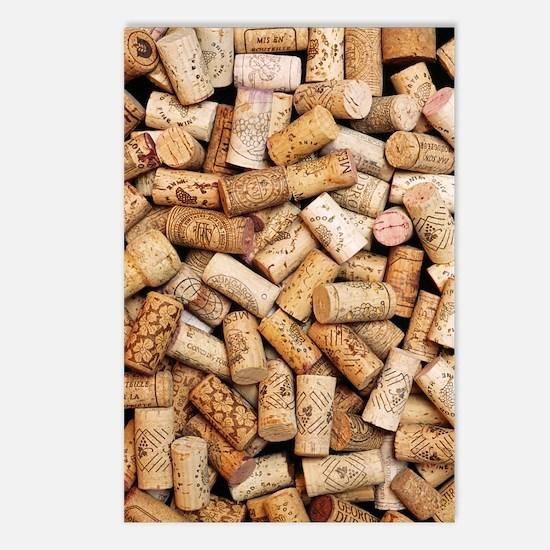 Wine bottle corks Postcards (Package of 8)