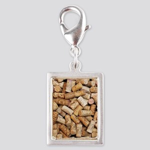 Wine bottle corks Silver Portrait Charm