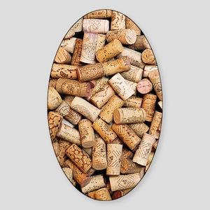 Wine bottle corks Sticker (Oval)