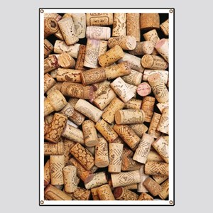 Wine bottle corks Banner