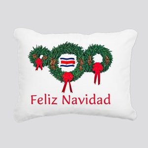 Costa Rica Christmas 2 Rectangular Canvas Pillow