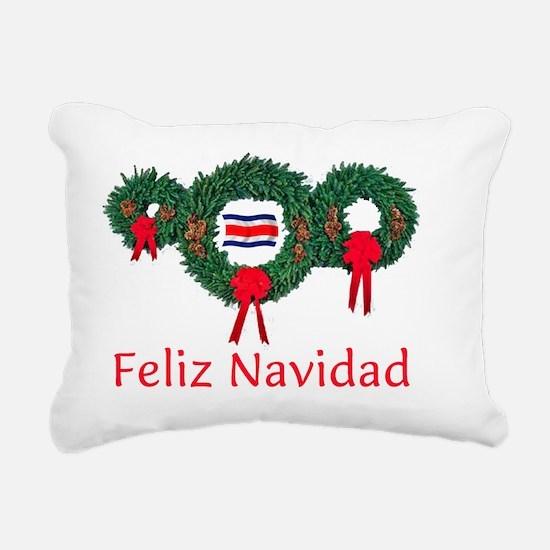 Costa Rica Christmas 2 Rectangular Canvas Pillow